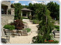 GoGreen Landscaping - Stone Patio and Landscaped Garden